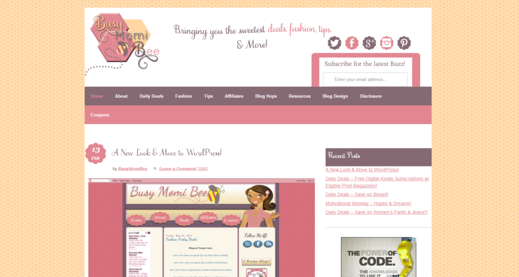 Custom Blog Design by Shawberry Themes