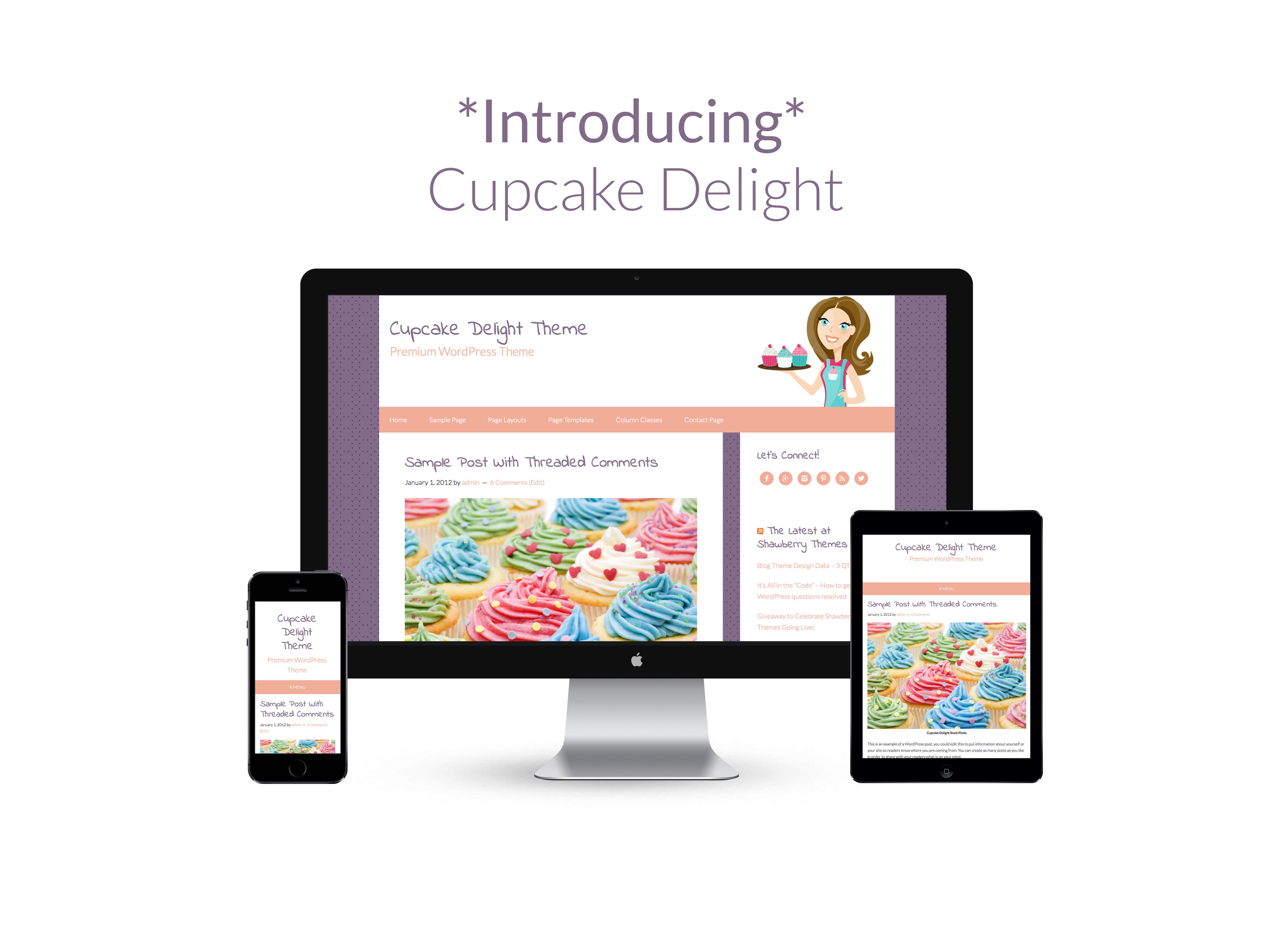 Cupcake Delight Premium WordPress Theme