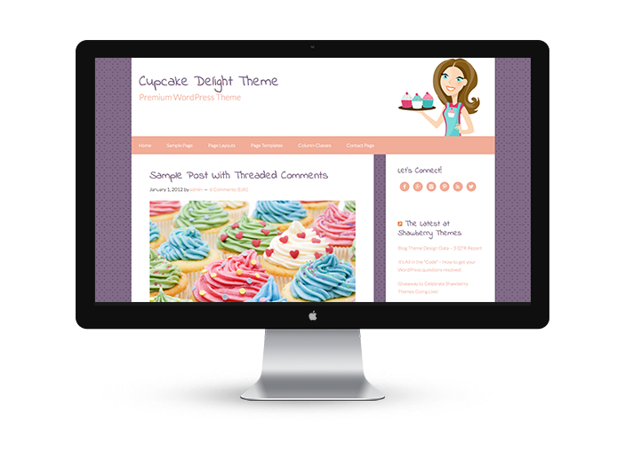 Cupcake Delight - Premium WordPress Theme