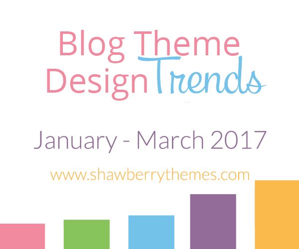 Quarterly Blog Theme Design Trend Report: Jan. – Mar. 2017