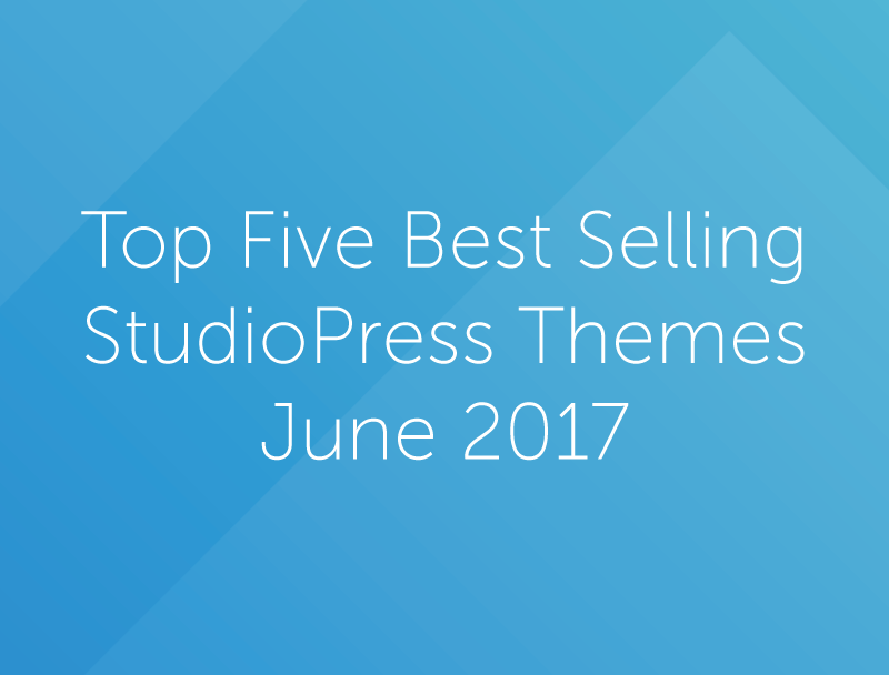 Top Five Best Selling StudioPress Themes for June 2017